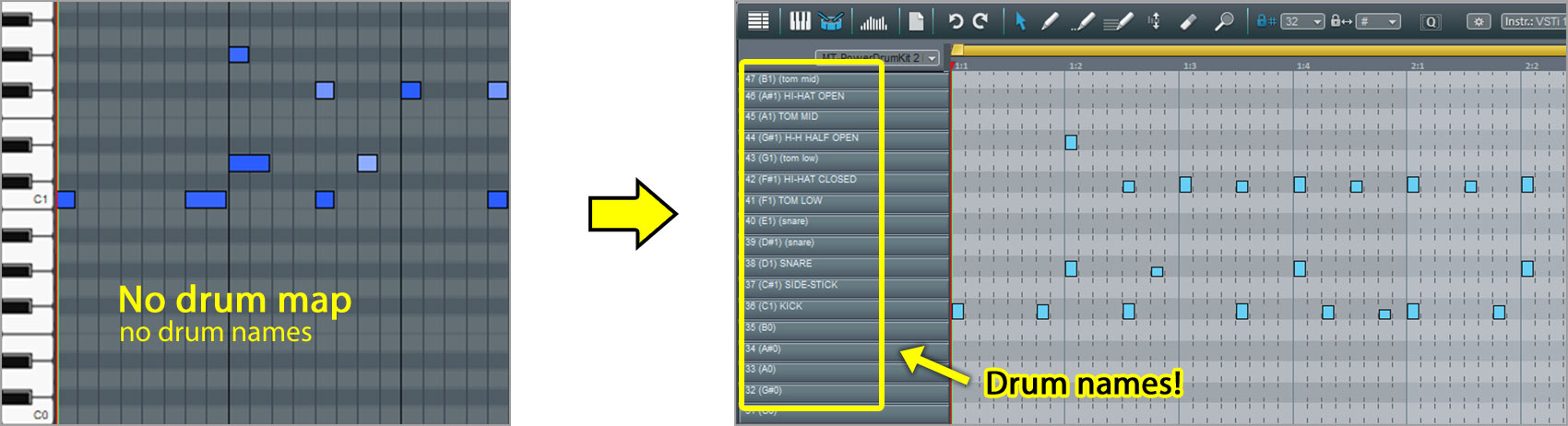 MAGIX Music Maker Drum Map laden on
